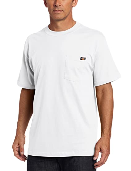 1c244b068 Dickies Men's Short-Sleeve Pocket T-Shirt, White 3X-Tall