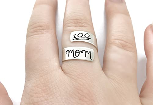 Adjustable Rings Personalized Jewelry Mama Jewelry Mama Wrap Ring Gifts For New Moms Rings For Women Silver Rings