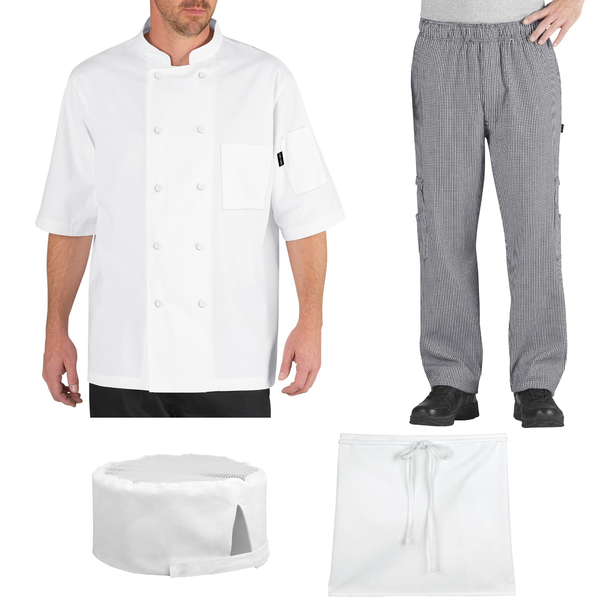 Chef Code Student Chef Bundle Pack Includes Chef Coat, Pants, Hat & Apron by Chef Code