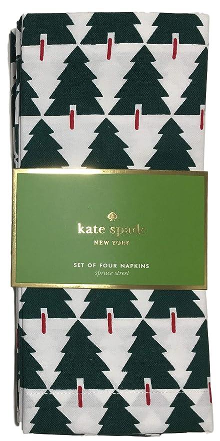 Christmas Napkins.Kate Spade New York Christmas Tree Napkins Spruce Street Set Of 4