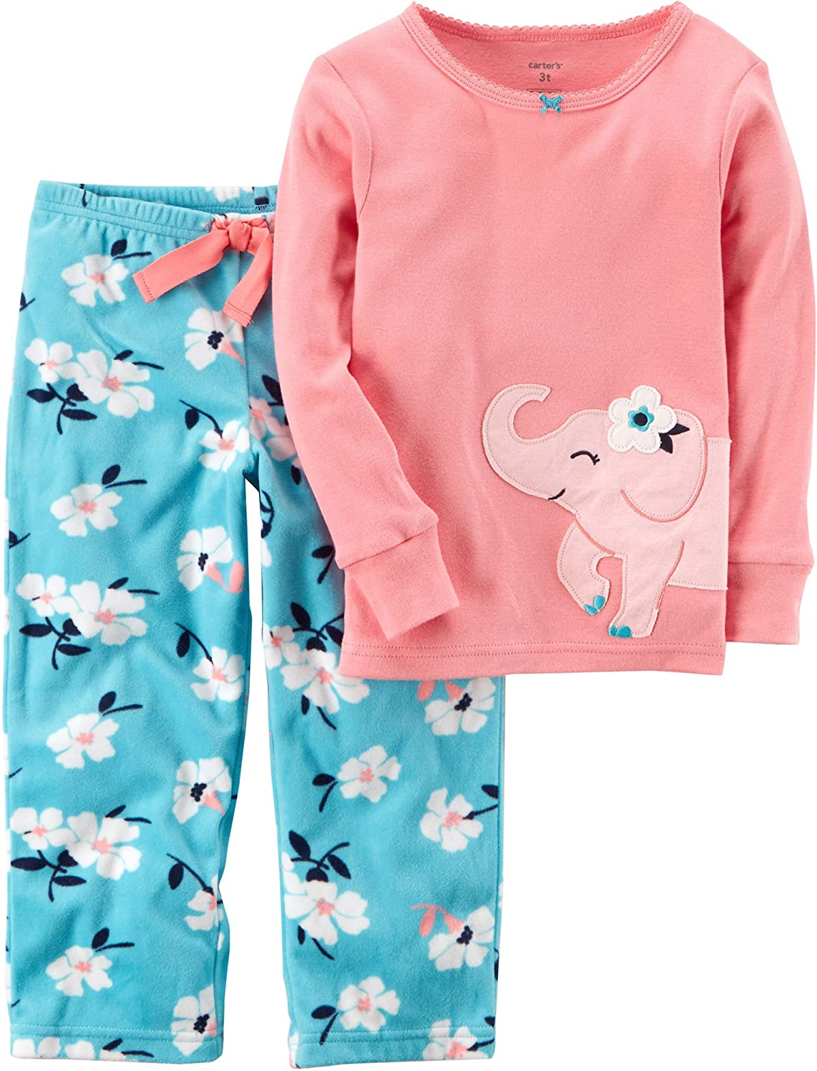 3f046a09d Amazon.com  Carter s Baby Girls  12M-7 2 Piece Elephant Cotton and ...