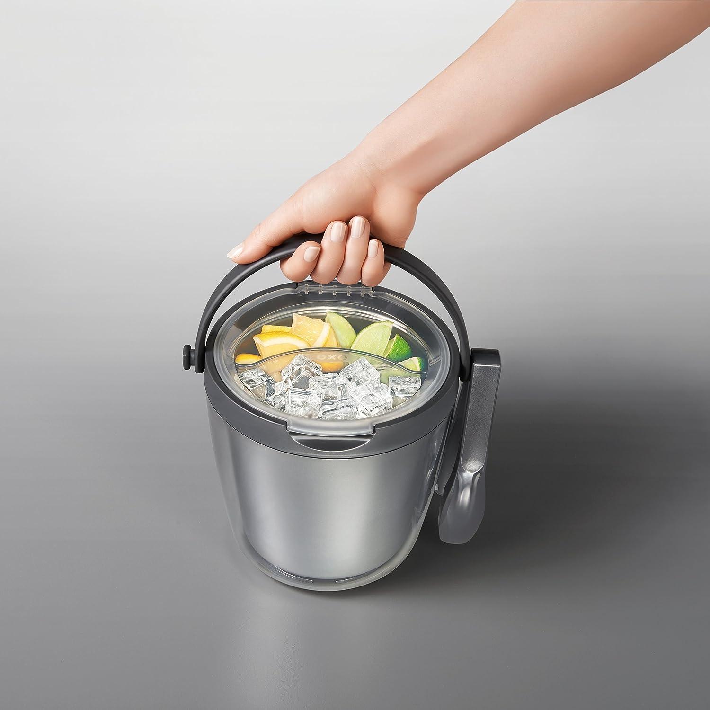 OXO 3 Piece Ice Bucket /& Tong Set