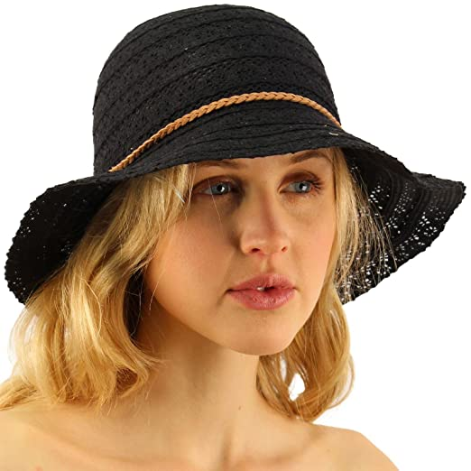 CC Everyday Lace Cloche Summer Derby Beach Pool Bucket Crushable Sun Hat  Black 6d404ec875cb