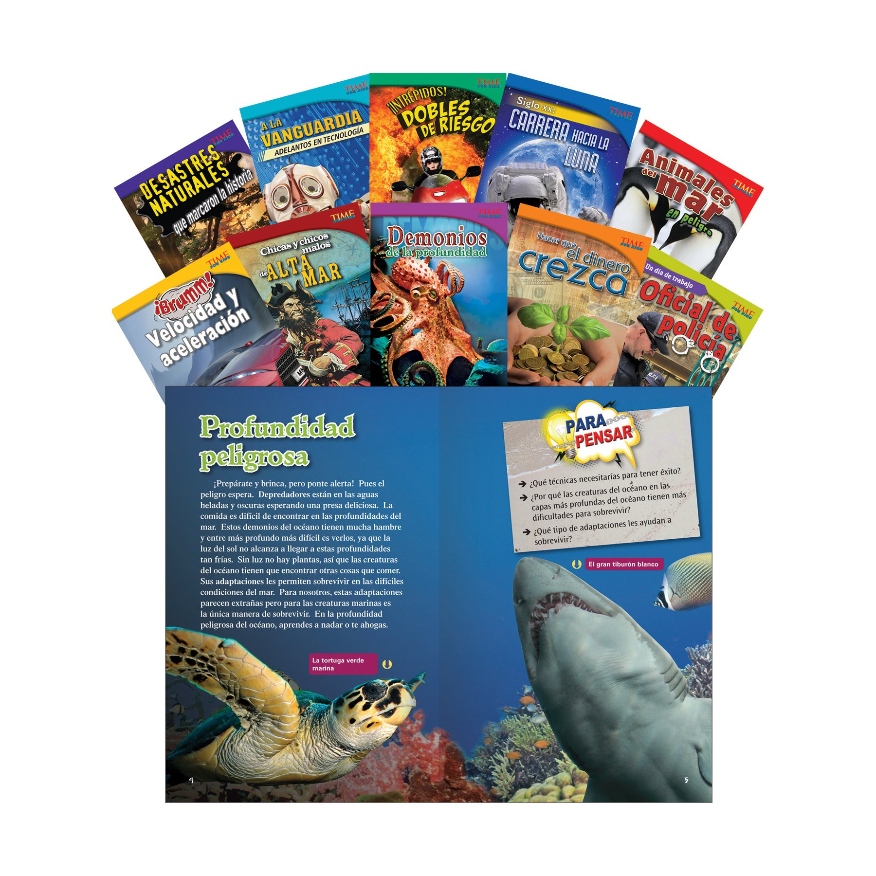 TIME FOR KIDS® Informational Text Grade 5 Spanish Set 1 10-Book Set (TIME FOR KIDS® Nonfiction Readers) (Spanish Edition)