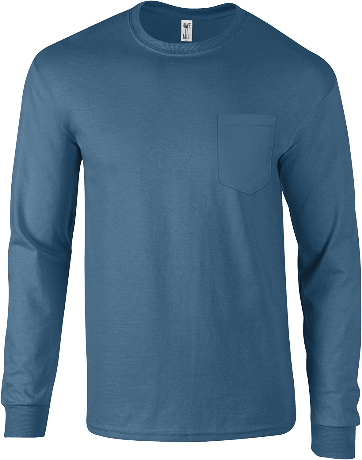 Have It Tall T Shirts for Men and Women Pocket Long Sleeve Sizes S 2XL