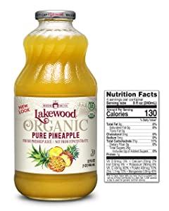 Lakewood Pure Pineapple, Fresh Pressed (32 Oz, 6 Pack)