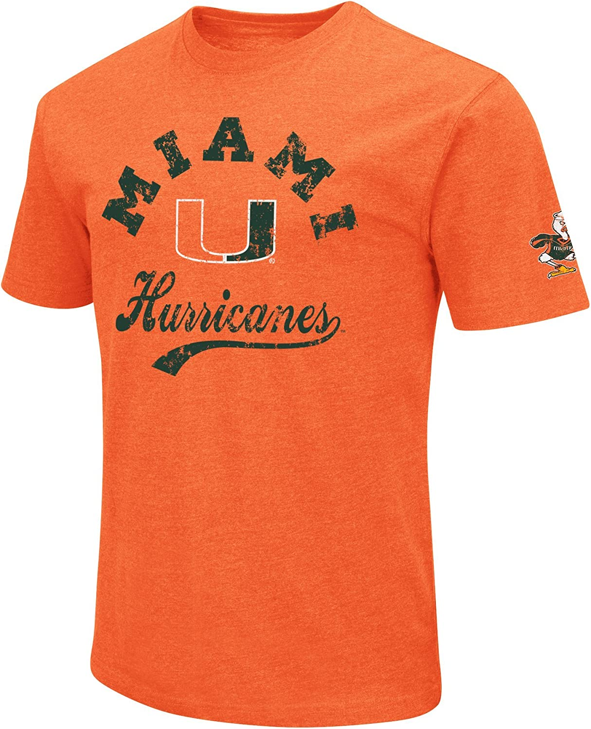 NCAA Colosseum Mens Vintage Dual-Blend T-Shirt with 2 Logos
