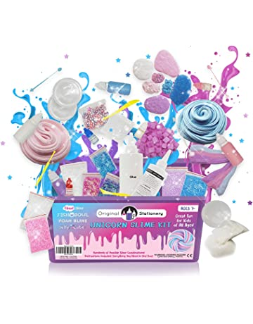Unicorn Slime Kit Supplies Stuff for Girls Making Slime  Everything in ONE  Box  Kids ef66748535f