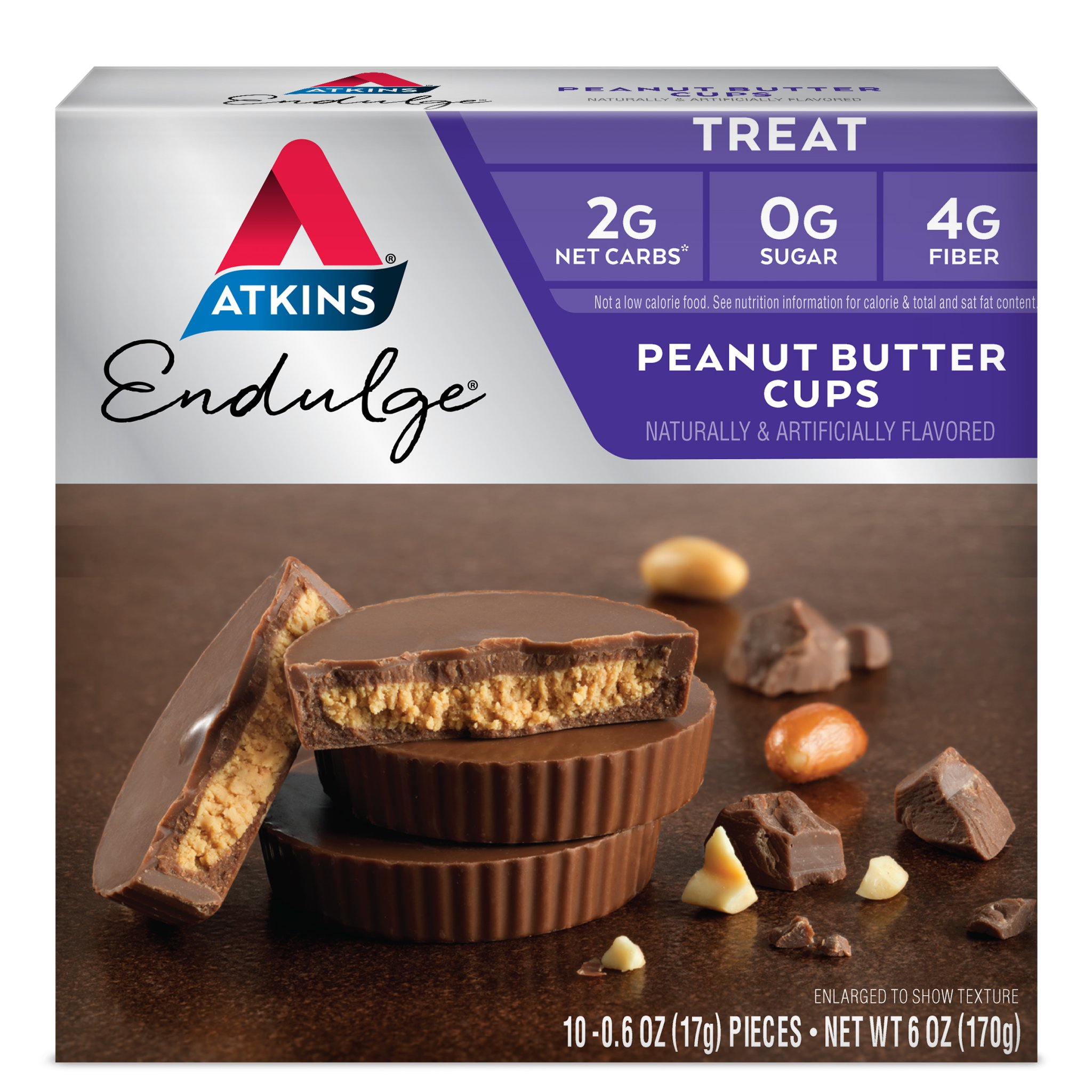 Atkins Endulge Treat, Peanut Butter Cups, Keto Friendly, 60 Count (Value Pack) by Atkins (Image #1)