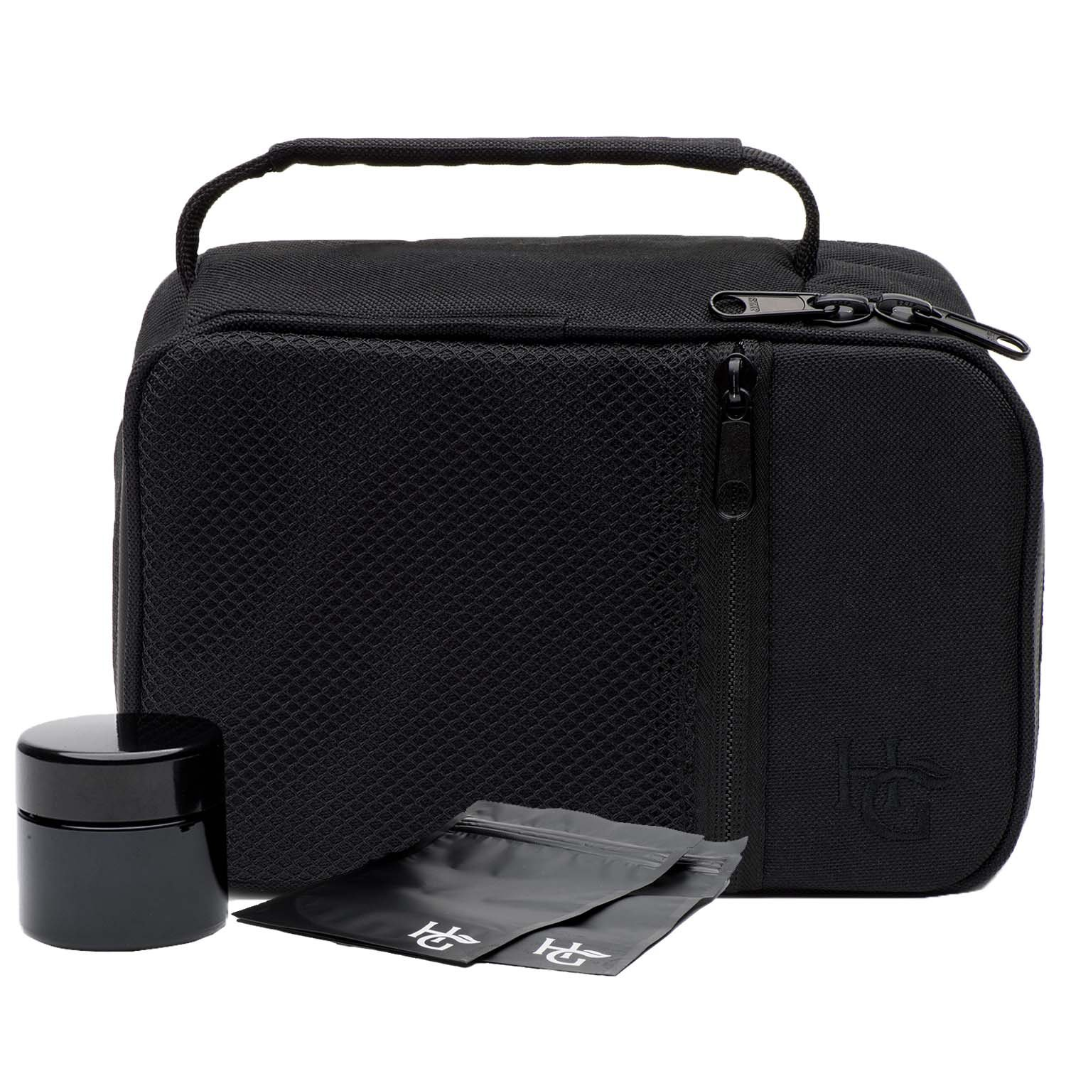 Large Smell Proof Case by Herb Guard with Combination Lock (No Smell Container Holds 3 Ounces) - No Smell Bag Comes with Smell Proof Jar and Resealable Travel Bags