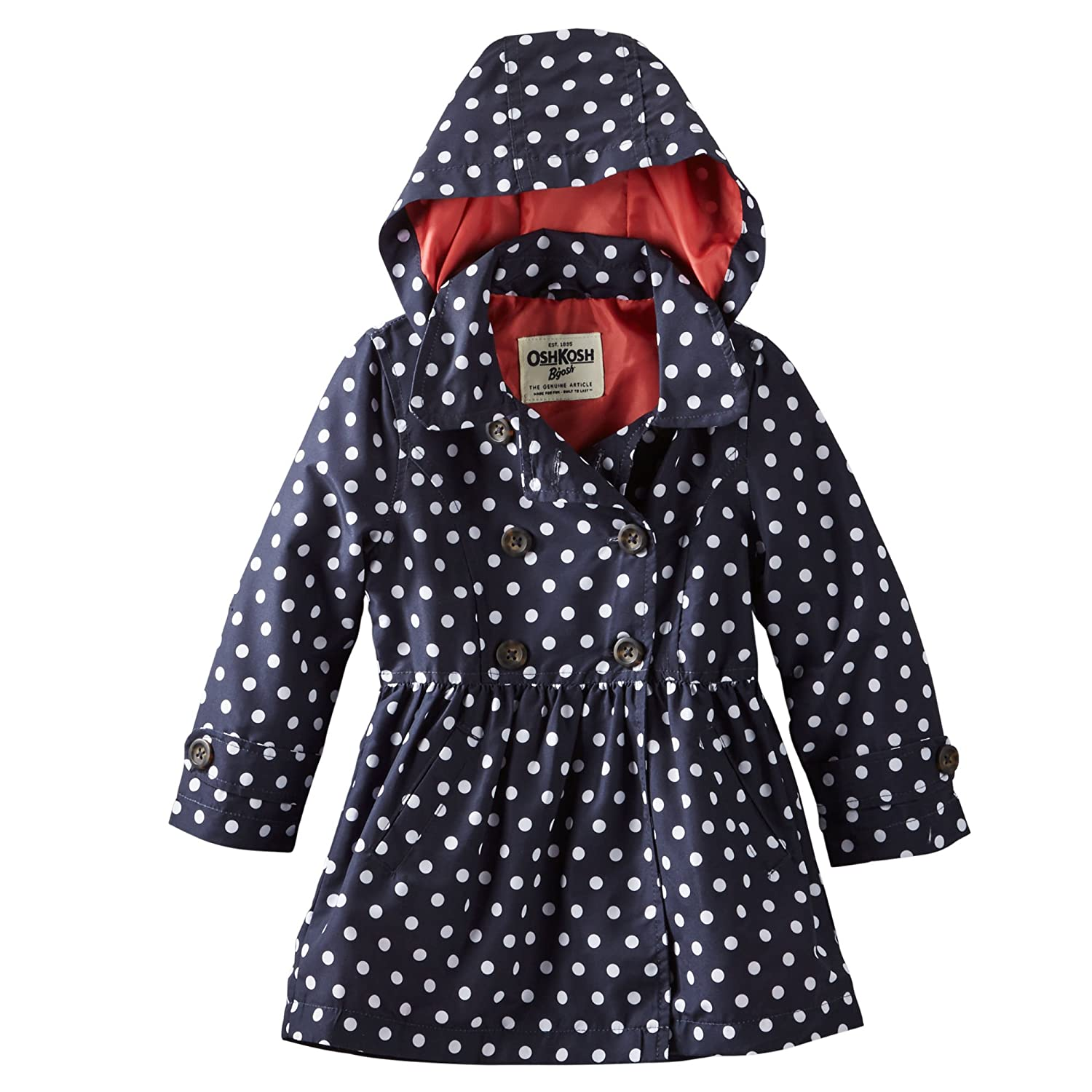 Amazon.com: Oshkosh B'gosh Button up Hooded Trench Coat (12 Months ...