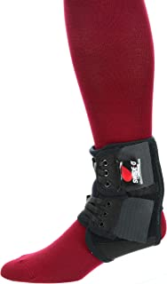 product image for Core Products PowerWrap Stabilizing Ankle Brace, No-tie Laces, Adjustable & Reinforced, Black, Regular