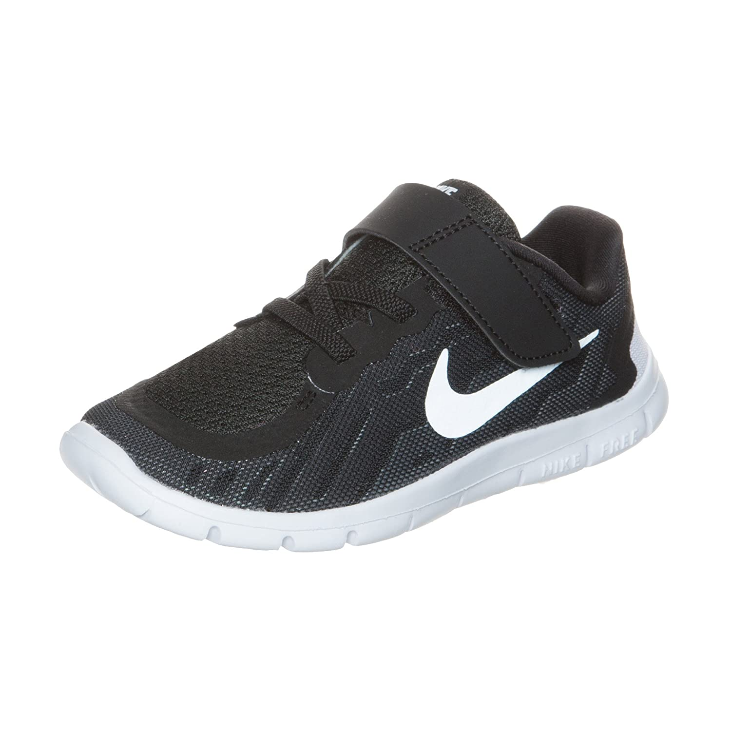 a9957aeddb1e NIKE Free 5 (TDV) Black White Dark Grey 725107-001 (4 M Toddler)   Amazon.co.uk  Shoes   Bags