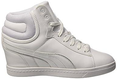 Puma Vikky Wedge L Fs Sneaker Donna, BiancoArgento, 41.5 EU