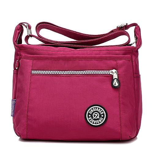Foino Bolsos de Moda Ligero Bolso Bandolera Mujer Bolsos Grandes Impermeable  Bolsas de Viaje Sport Messenger Bag para Escolares  Amazon.es  Zapatos y ... a85cd99cceddf