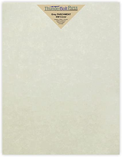 amazon com 50 gray parchment 65lb cover weight paper 8 5 x 11