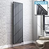 iBathUK | 1600 x 480 Vertical Column Designer Radiator Anthracite Single Flat Panel