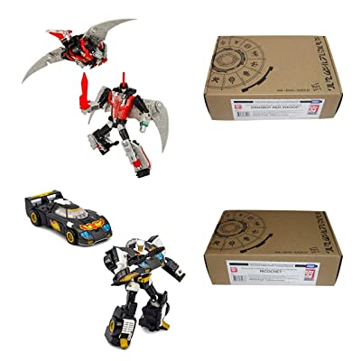Transformers Generations Selects Deluxe Class Bundle = Dinobot Red Swoop & Ricochet (Stepper) Exclusive Action Figures (2 Items): Toys & Games