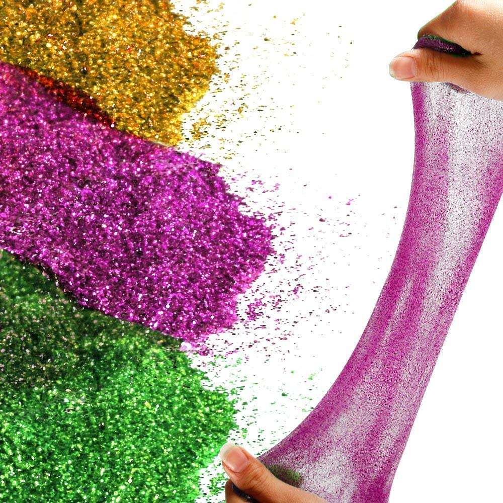 Fine Slime Glitter Multi Color Assorted Set TLWDZ 12 Pcs Glitter Shake Jars for Art Crafts Painting Scrapbooking Body Slime Holiday Party Supply