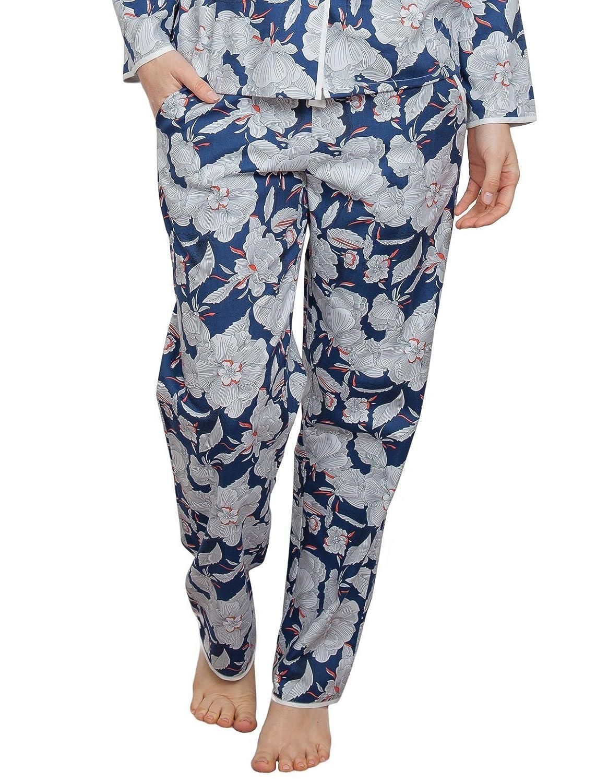 TALLA 34. Cyberjammies 3839 Women's Zoe Navy Blue Floral Pajama Pyjama Pant