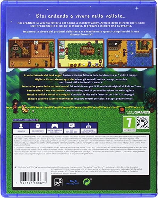 Stardew Valley - PlayStation 4 [Importación italiana]: Amazon.es ...