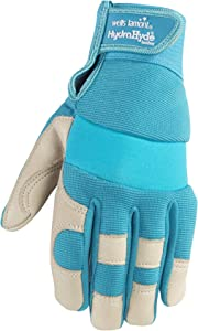 Women's Water-Resistant Work & Gardening Gloves, HydraHyde, Medium (Wells Lamont 3204M)