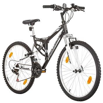 26 Pulgadas, CoollooK, EXTREME, Unisex, bicicleta de montaña,Doble Suspensión, 18 Velocidades, Llantas MACH1, Negro-Brillo: Amazon.es: Deportes y aire libre