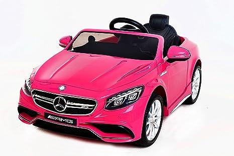 Macchina Elettrica per Bambini Auto Mercedes-Benz S63 AMG Rosa 2 x Motore 12V