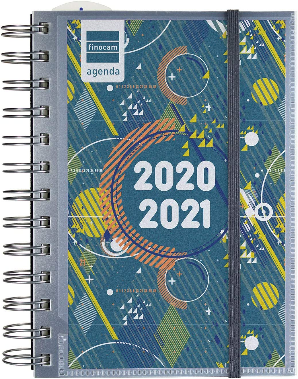 Finocam - Agenda Curso 2020-2021 para Secundaria Octavo, 120 x 169, 1 Día Página (sept-jun) Mini Institut Tapa Personalizable, Español