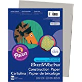 """Pacon PAC8803 SunWorks Construction Paper, 9"""" x 12"""", Gray, 50 Sheets"""