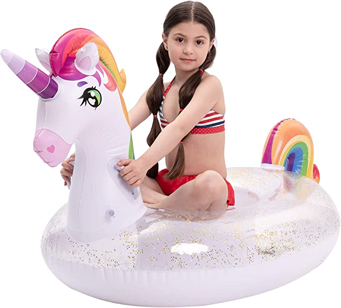 Kids Inflatable Water Wheel Pool Float Swim Ring Toy Lilo Fun Swimming Party 24
