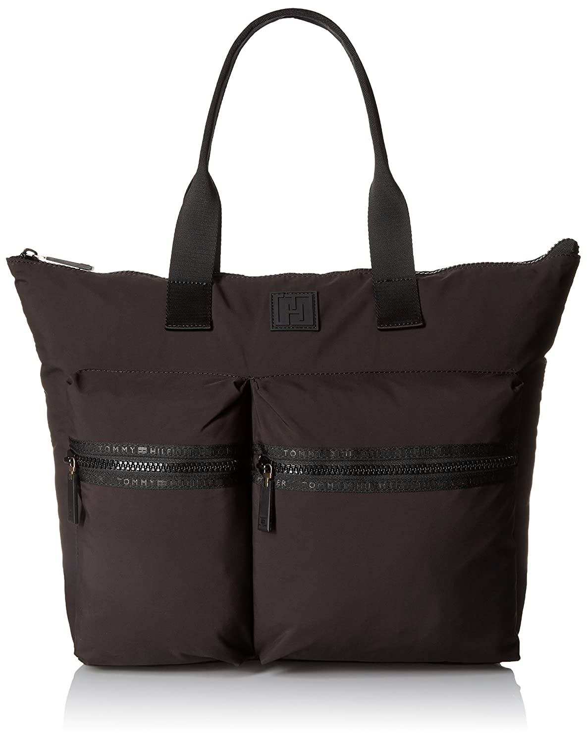afaf3f7ee Amazon.com: Tommy Hilfiger Sport Nylon Large Tote Top Handle Bag, Black,  One Size: Clothing