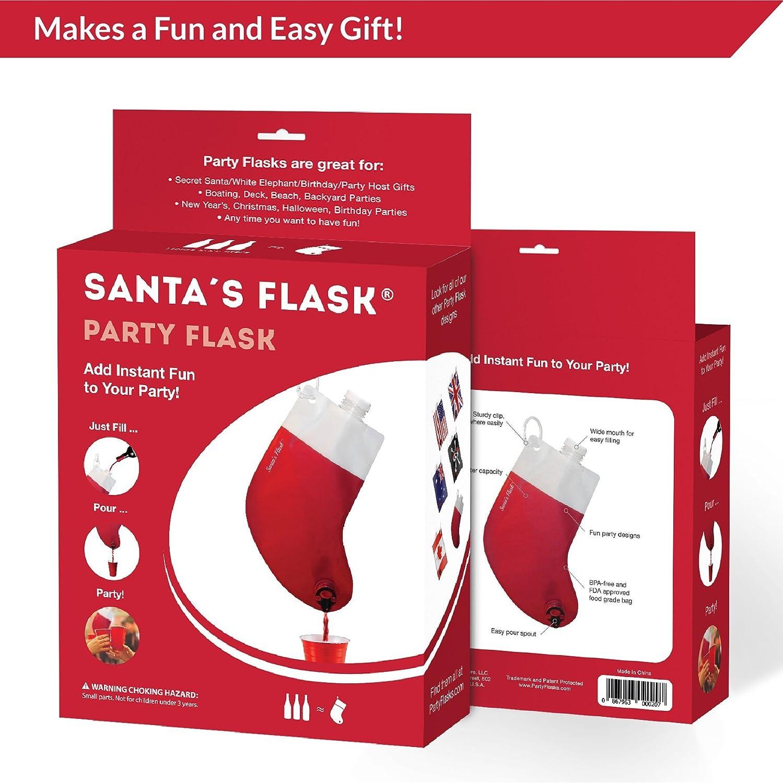 Amazon.com: Party Flasks Santas Flask for Liquor, Wine, Drinks ...