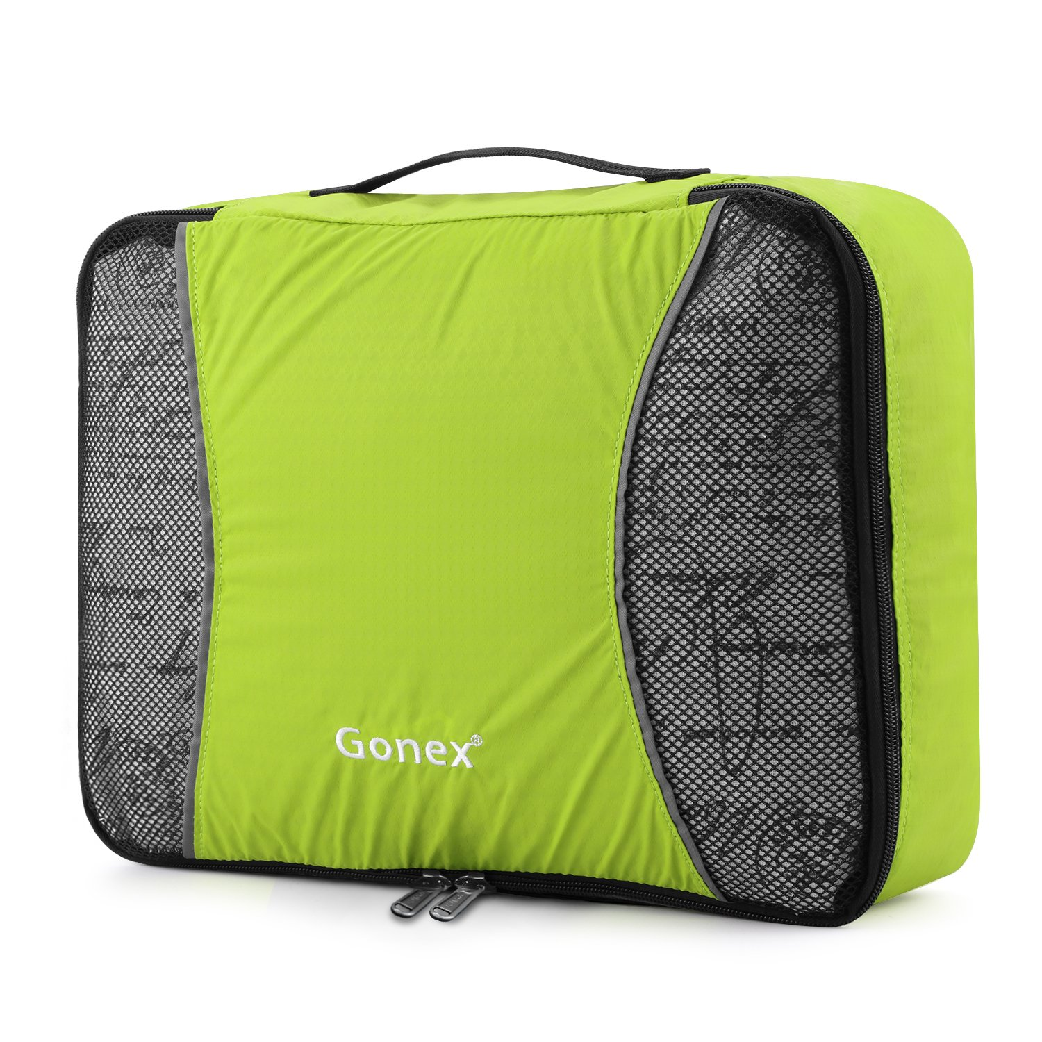3Pcs//Set Men Travel Bag Packing Cube Clothes Pouch Foldable Duffle Bag Large Capacity Organizer Trip Accessories,Green
