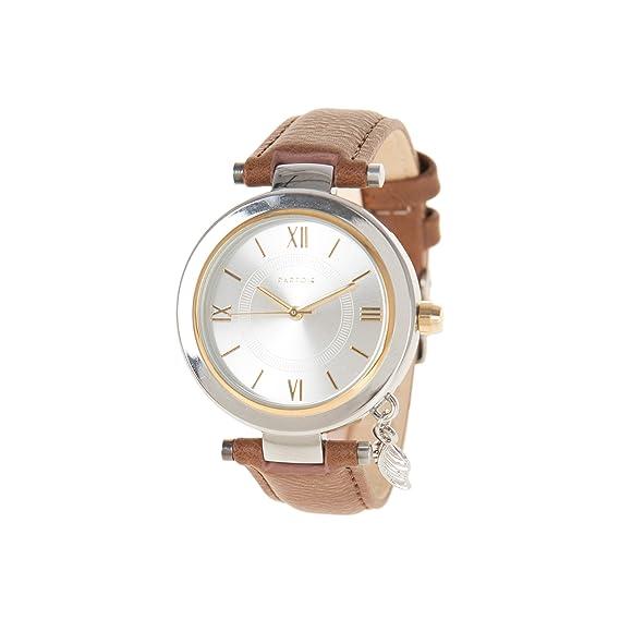 Parfois - Reloj Leaf Charm - Mujeres - Tallas M - Camel