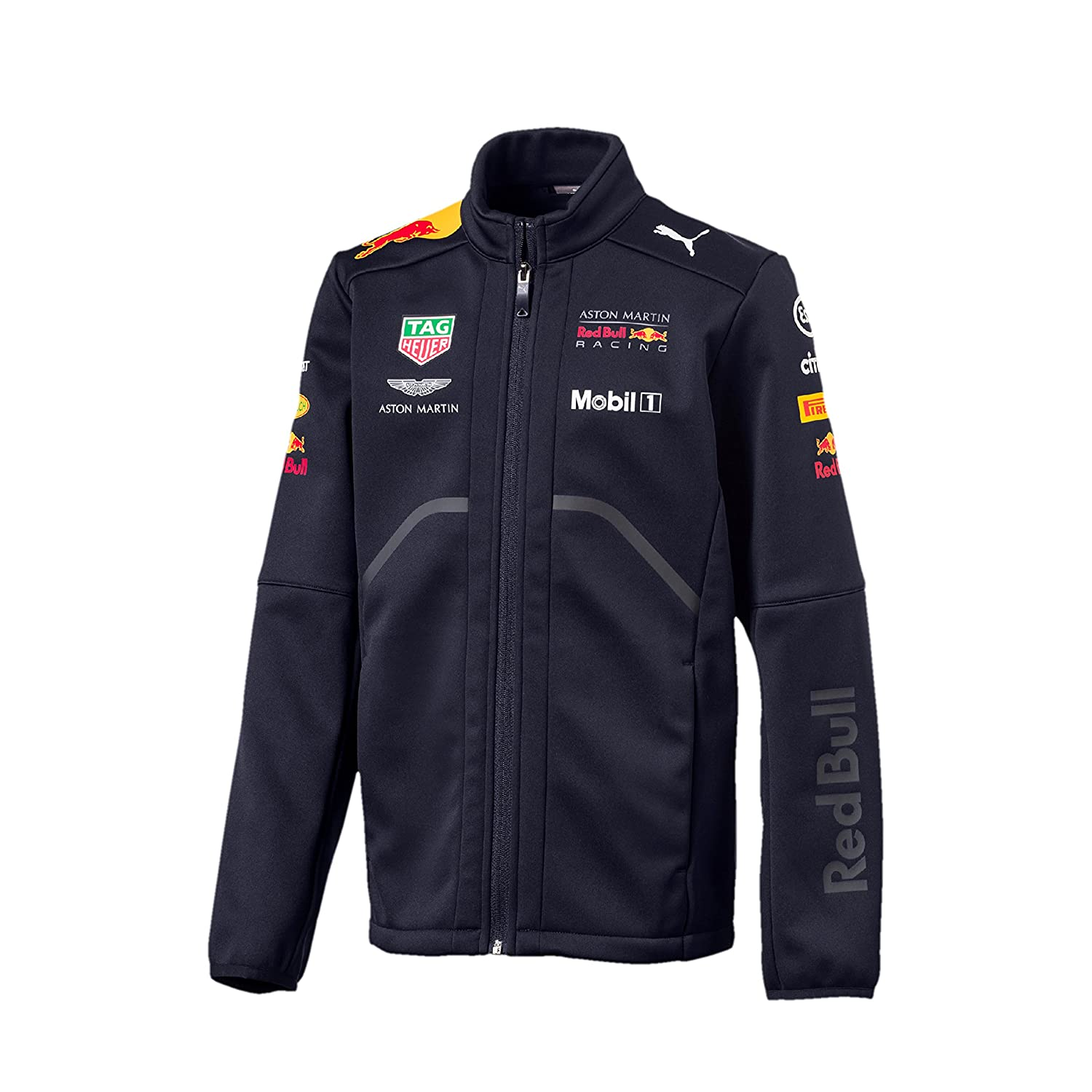 53ac186d39d Amazon.com  Red Bull Racing Formula 1 Aston Martin Kids 2018 Team Softshell Jacket  F1  Clothing