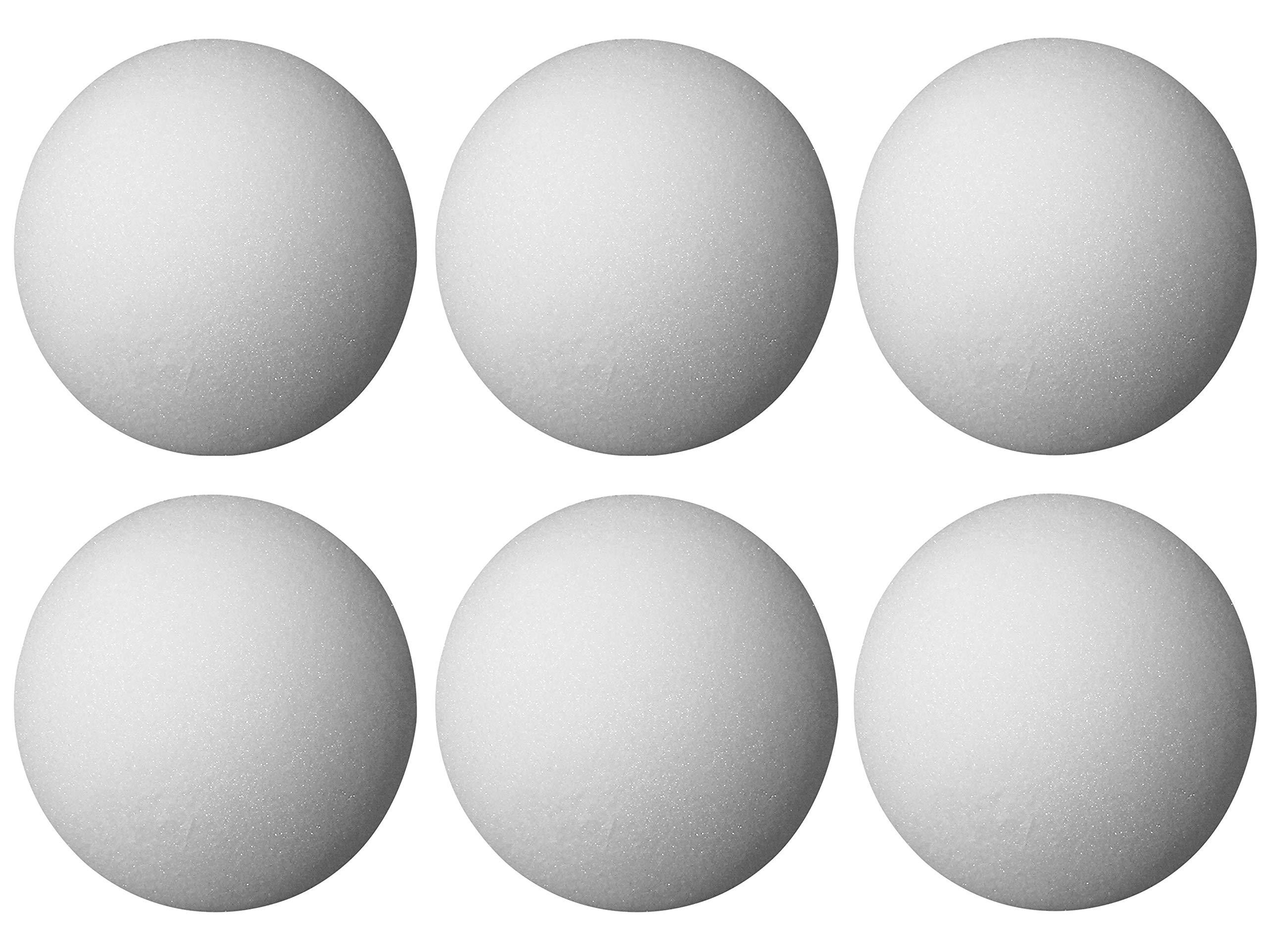 FloraCraft Styrofoam Ball: White, 3 inches, 6 Pieces (Вundlе оf Fоur)