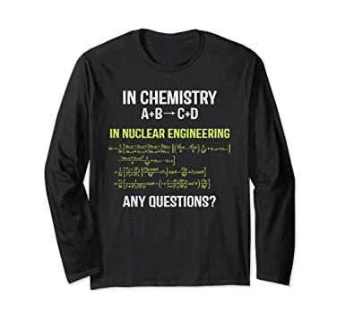 Amazon Nuclear Engineering Medicine Physics T Shirtclear