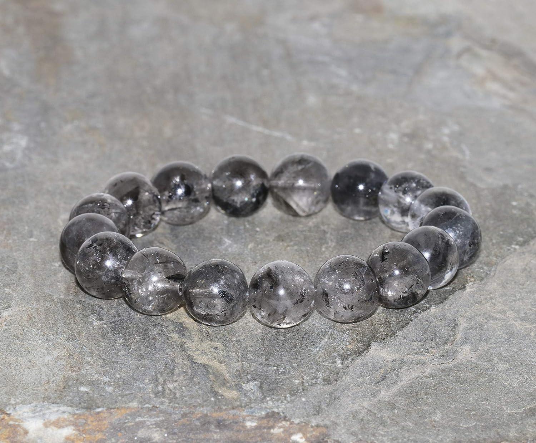 Himalayan Clear Quartz Beaded 11mm to 11.5mm Energy Quartz Bracelet Gemstone Bracelet Stack Bracelet Gift Bracelet Yoga Unisex Bracelet