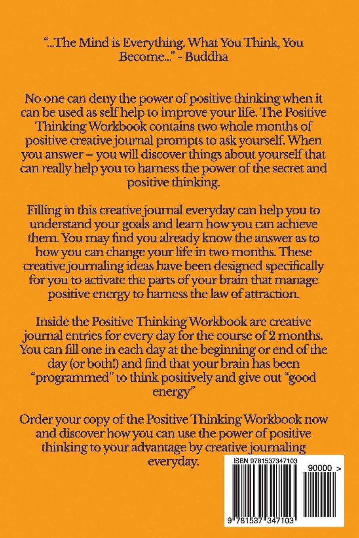 Positive Thinking Workbook: 2 Months of Creative Journal Ideas ...