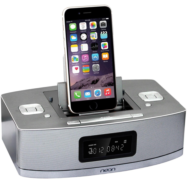 Neon Electronic Btd622 37 Apple Certified Dual Docking Quatro 2 Super Loud 20 Usb Speaker By Sonicgear Green Lightning Ipod Iphone Ipad With Bluetooth Mp3 Linkfm Radio And Alarm Clock