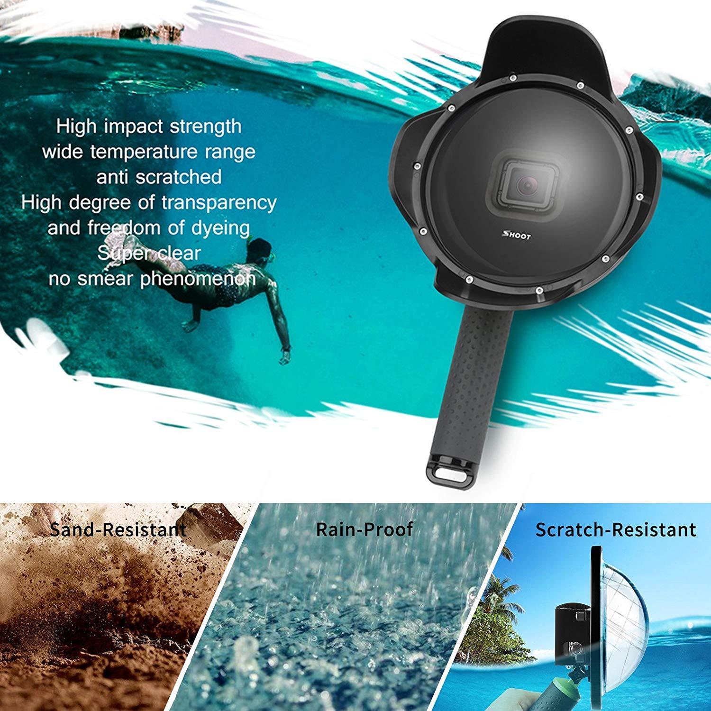 Shoot Underwater Lens Hood Dome Port for GoPro HERO7 Black/HERO6/HERO5/HERO2018 Action Camera (Shoot Official Accessory) (XTGP376B) by unbrand (Image #3)