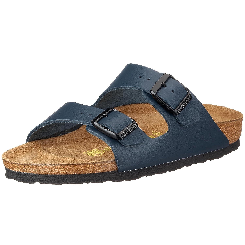 Birkenstock Arizona, Zapatos con Hebilla Unisex Adulto 44 EU (Estrecho)|Azul (Bleu-v.1)