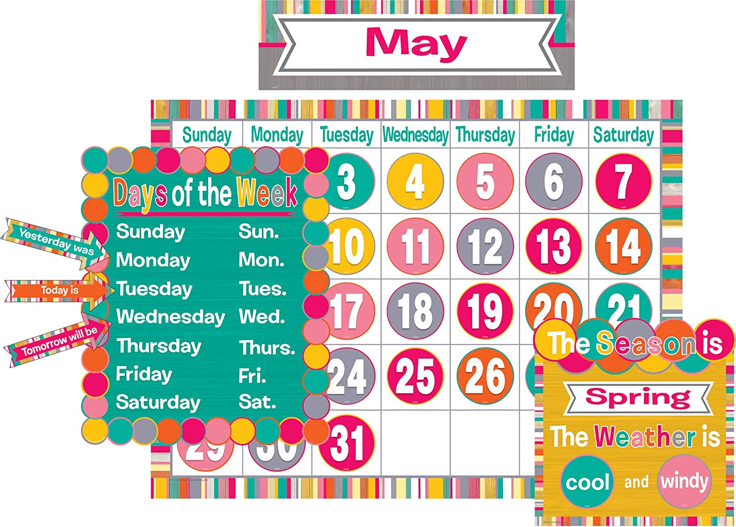 Teacher Created Resources (2685) Tropical Punch Calendar Bulletin Board