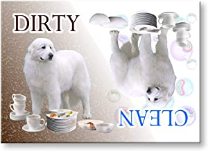 Great Pyrenees Clean Dirty Dishwasher Magnet