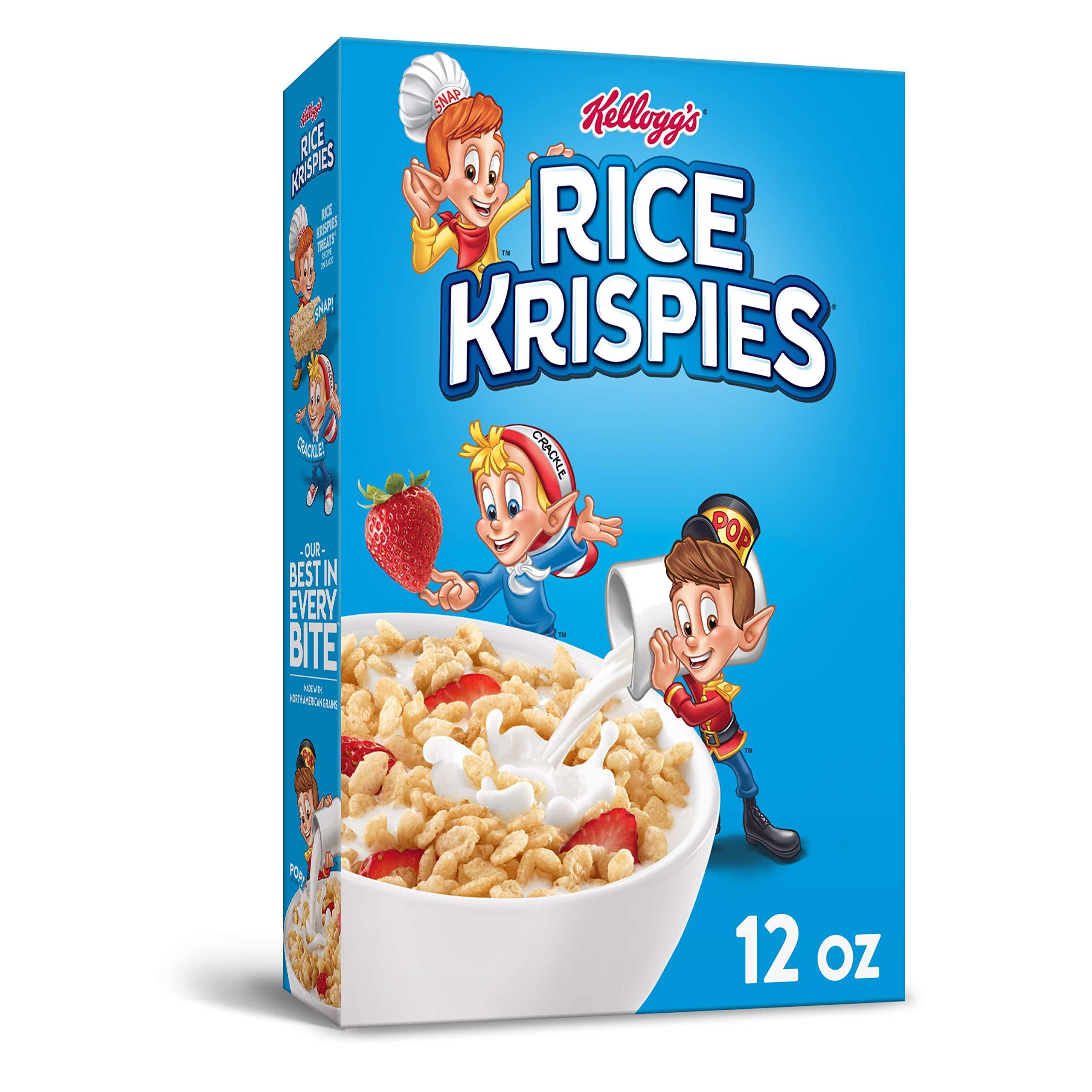 Kellogg's Rice Krispies, Breakfast Cereal, 12oz Box