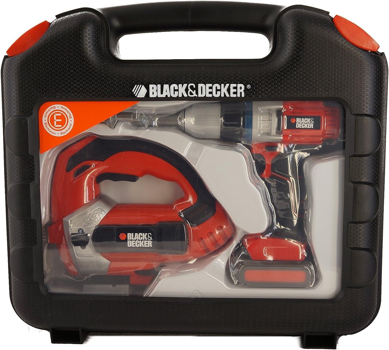 Caja de herramientas con atornillador de batería y sierra caladora ...