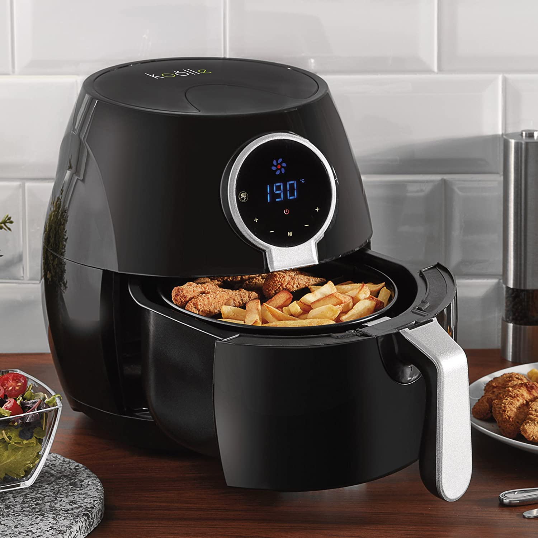 Koolle Hot Air Digital Nutri Fryer Oven Low Fat Reduced Oil Rapid Healthy Cooking 4L Capacity 1400W Digital Air Fryer