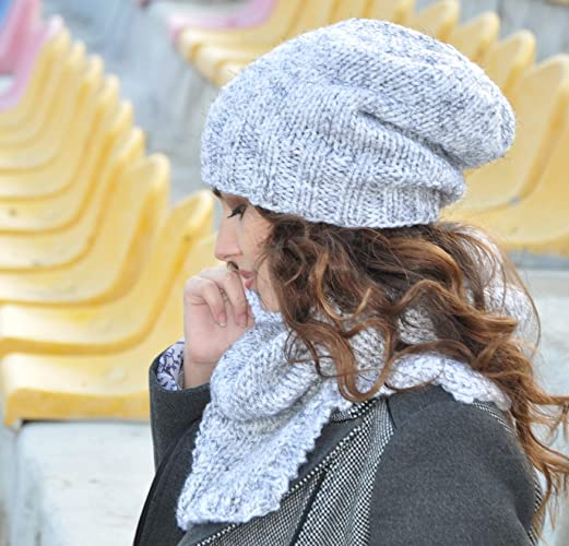 bb3da529f1b66a Knitted Slouchy Beanie Hat for Women and Men, Oversized Hat, unisex slouchy  beanie, Slouchy Hat Chunky Knit Hand Knit Hipster Hat Winter Accessories,  ...