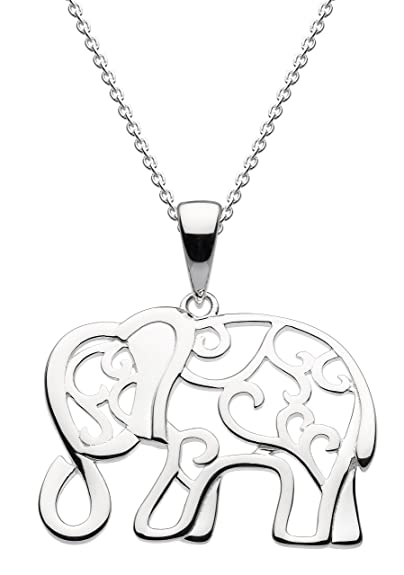 Dew womens 925 sterling silver elephant necklace of length 457 cm dew womens 925 sterling silver elephant necklace of length 457 cm aloadofball Gallery